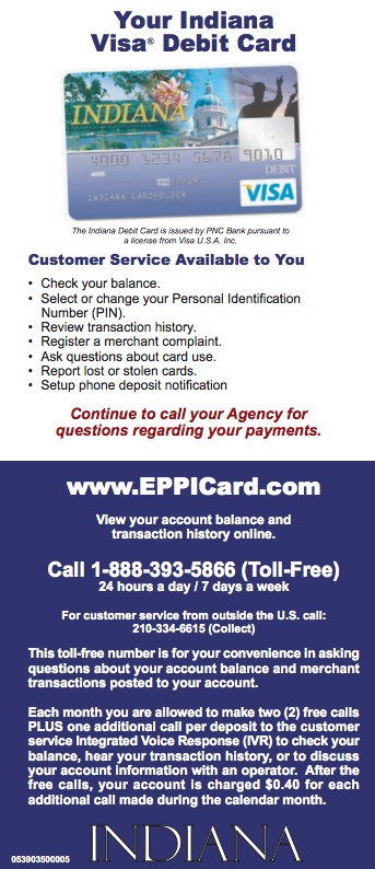 Indiana IN EPPICard Customer Service Number - Eppicard Help