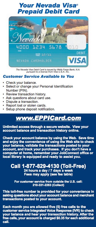 Nevada EPPICard Customer Service - Eppicard Help