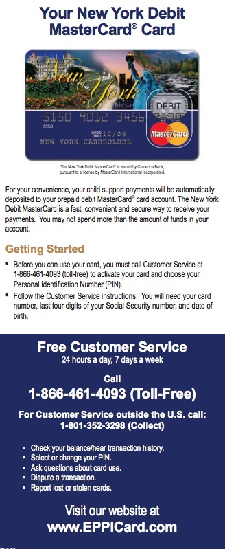 New York NY EPPICard Customer Service Number - Eppicard Help