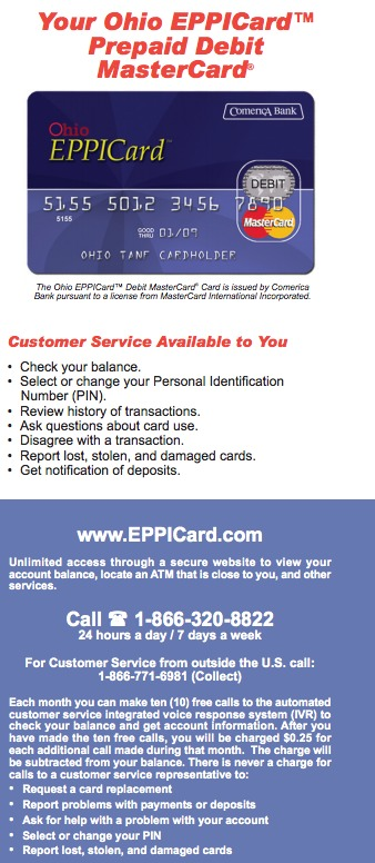 oklahoma eppicard Ohio EPPICard Customer Service Cash Benefits - Eppicard Help