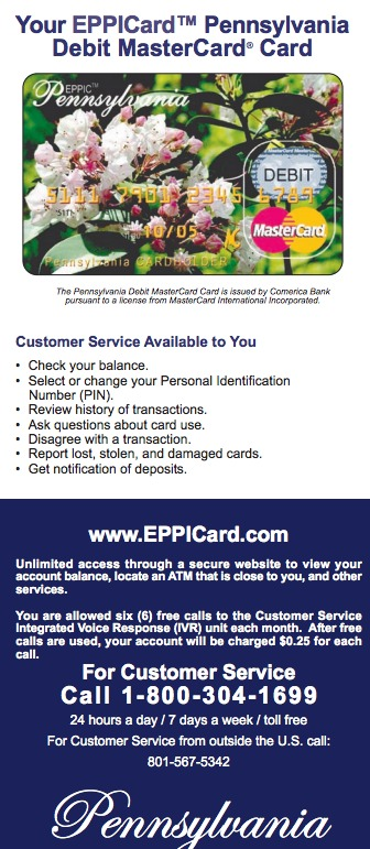 Pennsylvania PA EPPICard Customer Service Number - Eppicard Help